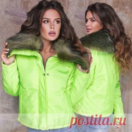 Демисезонная куртка с мехом на вороте купить недорого
