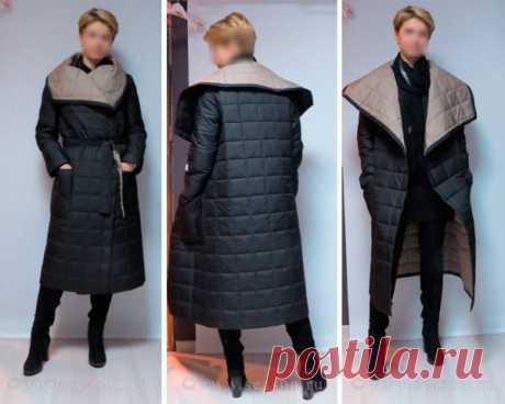 Стёганое пальто-одеяло