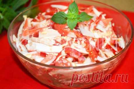 Салат «Красное море» с крабовыми палочками. Рецепт с фото • Кушать нет