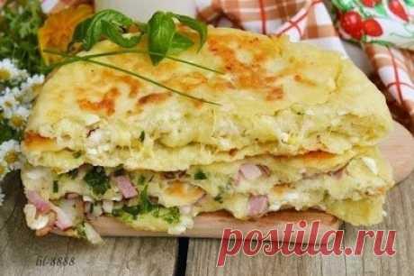Как приготовить сырные лепешки с разными начинками - рецепт, ингредиенты и фотографии