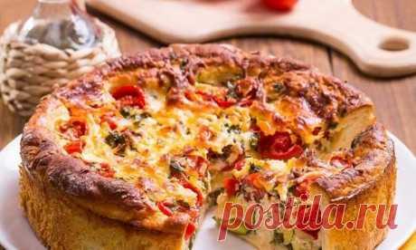 Рецепты открытых пирогов: с овощами, рыбой, курицей