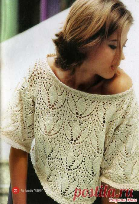 Ажурный пуловер - Страна Мам