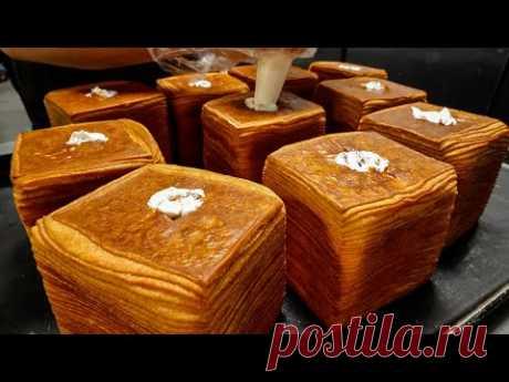72-слойный кремовый хлеб - Корейская уличная еда