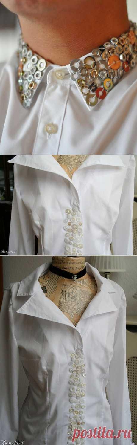 Декор рубашек - шайбами или пуговицами? / Рубашки / Модный сайт о стильной переделке одежды и интерьера