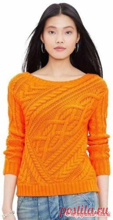 Пуловер спицами от Ralph Lauren вяжем вместе он лайн Приветствую всех, начинаем вязать замечательный, интересный и сложный пул от Ralph Lauren Опрос в Стране Мам: Пуловер спицами от Ralph Lauren, понравилось делюсь Будем вязать?