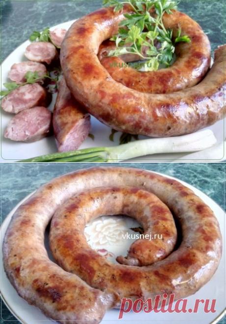 Домашняя колбаса в духовке - У нас так