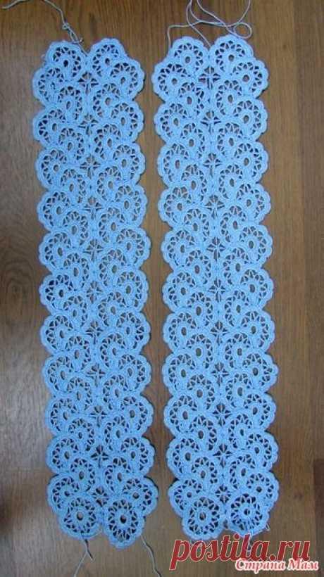 Платье, связанное в технике ленточного кружева. Пряжа АННА 16, крючок 1,5
