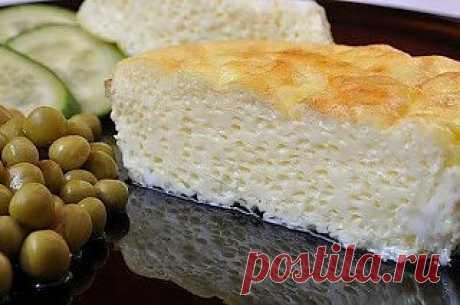 Пышный омлет в духовке Ингредиенты: яйца - 5 шт молоко -1 стакан  соль - 1/2 ч. ложки сливочное масло -50 гр