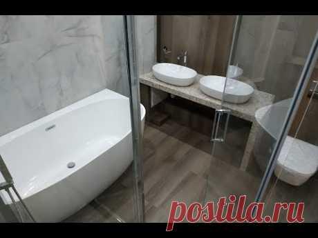 Интересный Дизайн при Ремонте Ванной и Туалета
