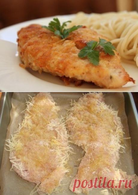 Как приготовить куриное филе в пармезане - рецепт, ингридиенты и фотографии