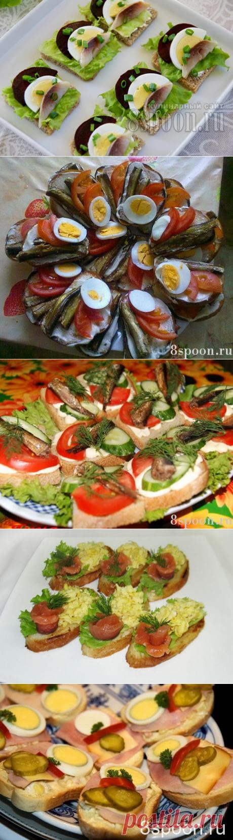 Праздничные бутерброды: вкусные рецепты с фото8 Ложек | 8 Ложек