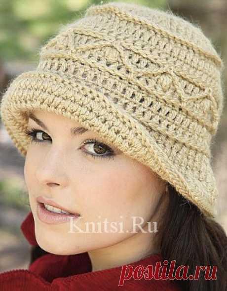 Вязаная шляпка в стиле ретро. Вязание для женщин / Шапки и шарфы / Крючком