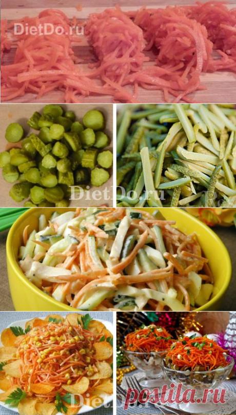 ТОП-11 рецептов: салат с копченой курицей и корейской морковью