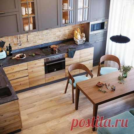 Самая шикарная кухня, которую я видел за последнее время. Крутая цветовая гамма, очень уютно и стильно. | El Design | Яндекс Дзен
