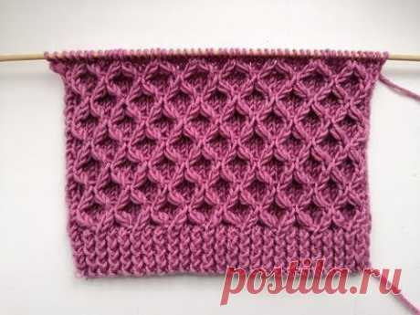 Рельефный, объемный, 3-D узор спицами для вязания джемперов, свитеров, кардиганов