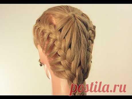 ▶ Прическа на каждый день с плетением. Hairstyle for every day - YouTube