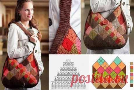 Идея для удобной вязаной сумочки