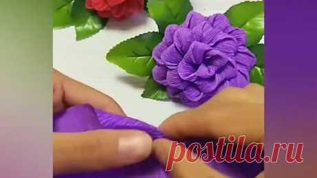 Цветы из гафрированной бумаги своими руками