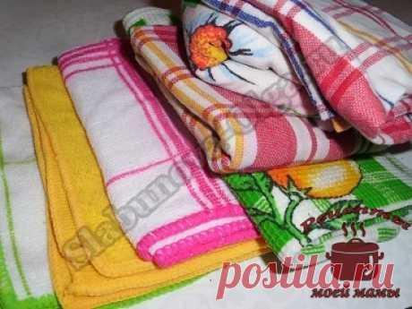 Как отстирать кухонные полотенца? Удаляем пятна легко и просто