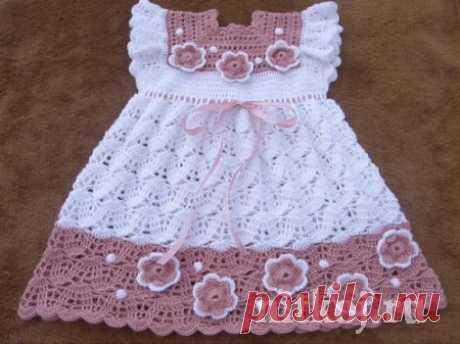 Детское платье крючком + жакетик » Ниткой - вязаные вещи для вашего дома, вязание крючком, вязание спицами, схемы вязания