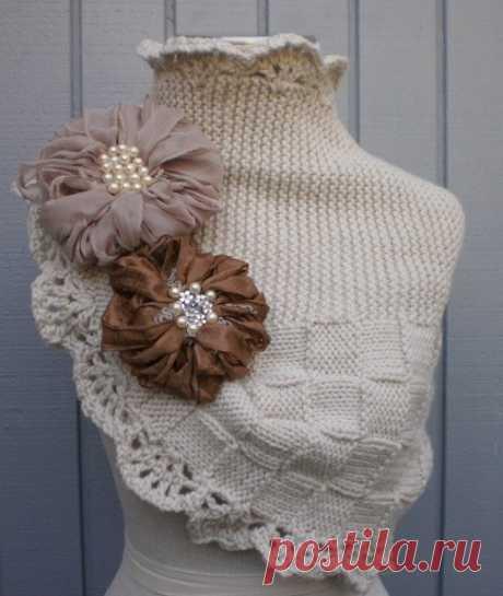Оригинальный шарф-снуд (Вязание спицами) | Журнал Вдохновение Рукодельницы