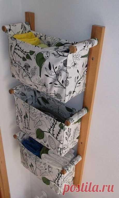 Настенный органайзер: дерево и текстиль