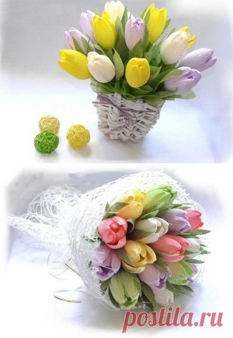 Букет тюльпанов — Сделай сам, идеи для творчества - DIY Ideas