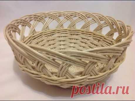 #24 Мастер-класс от А до Я Корзинка с ажурной загибкой. DIY. Basket with openwork top. ENG SUBS. - YouTube