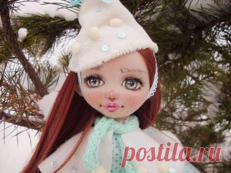 Мастер-класс : Создаем текстильную куклу «Юкико — ребенок снега» | Журнал Ярмарки Мастеров
