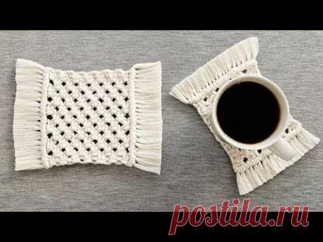(1) DIY como hacer POSAVASOS en MACRAME (paso a paso) | DIY Macrame Coasters - YouTube
