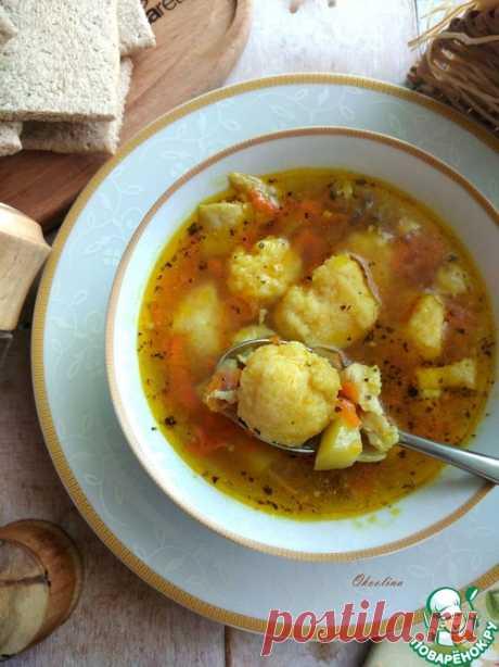 Пряный куриный суп с манными клёцками – кулинарный рецепт