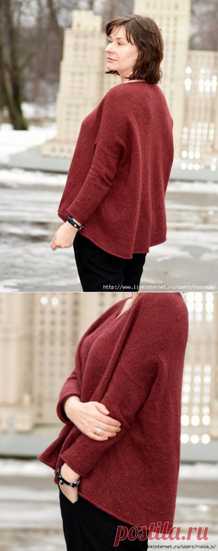 "Пуловер-оверсайз ""Igawa"" by Junko Okamoto."
