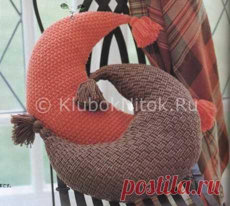 Подушка «Месяц»   Вязание крючком   Вязание спицами и крючком. Схемы вязания.