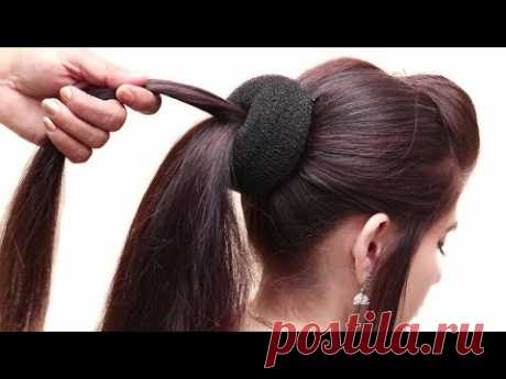 Beautiful MESSY BUN WITH FRONT PUFF HAIRSTYLE || hair style girl || party/wedding Hairstyle 2018
