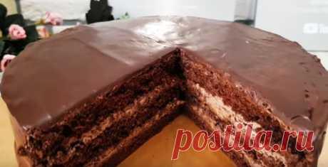 Шоколадный торт, вкуснее «Праги»