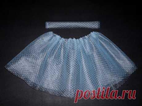 Пышная юбка из фатина: лёгкий способ