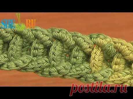 Узор из длинных перекрещенных петель Урок 7 Вязание спицами - YouTube