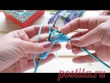 Как вязать накиды скрещенными петлями Лицевой и изнаночный скрещенный накид Прямые и обратные накиды - YouTube