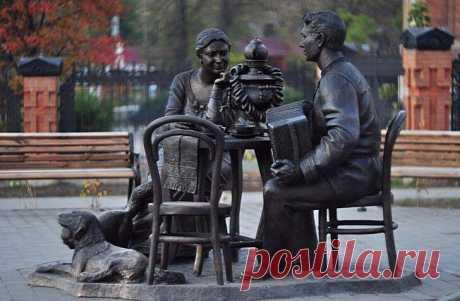 """Скульптура """"Тульское чаепитие"""" Автор — Марина Логунова. Facebook"""
