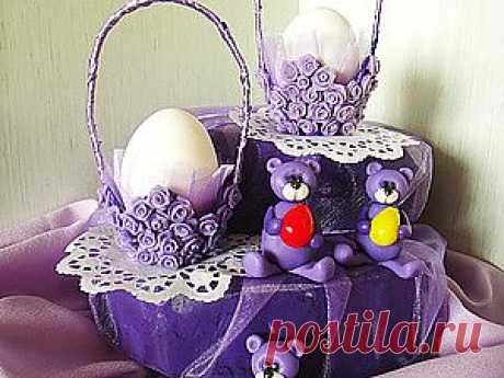 Preparation for Easter. A support under egg from the egg cartridge. - A fair of Masters - handwork, handmade