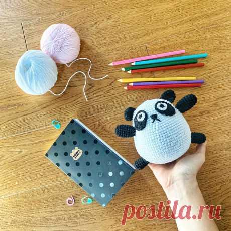 Милая панда амигуруми – Мир вязания и рукоделия