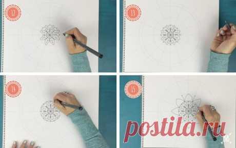 Как рисовать мандалы - это пошаговое руководство : Бохо Ягода