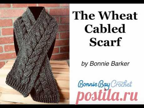 The Wheat Cabled Scarf by Bonnie Barker