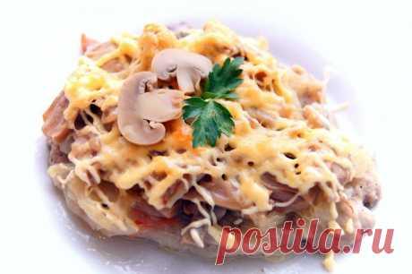 Для праздничного стола! Мясо по-купечески с грибами | Вкусные рецепты