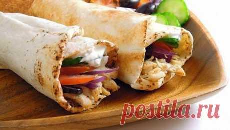 Куриный ролл в лаваше с сыром   Про рецептики - лучшие кулинарные рецепты для Вас!