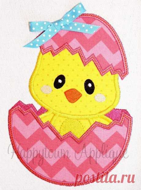 1000+ ideas about Easter Egg Chick Girl Machine Embroidery Design on Pinterest