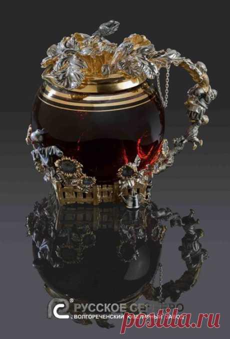 """Заварочный чайник """"Репка"""" #русскоесеребро#столовоесеребро#серебро#чайник#репка#сказки#подарок"""