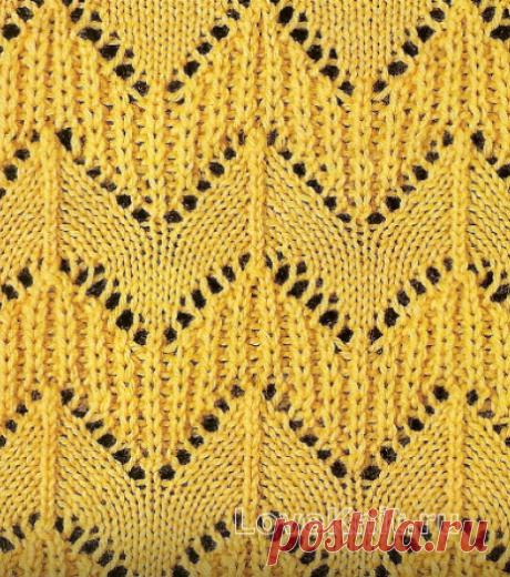 Красивые зигзаги: подборка из 15 интересных схем для вязания спицами   Факультет рукоделия   Яндекс Дзен