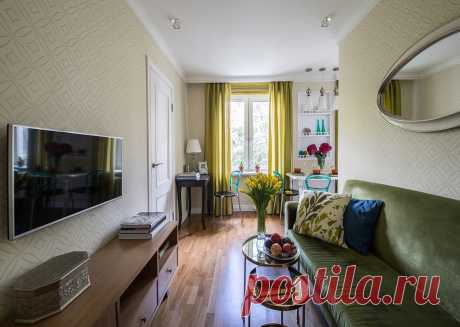 How to use 41 meters of the area with advantage: the small apartment for a big family