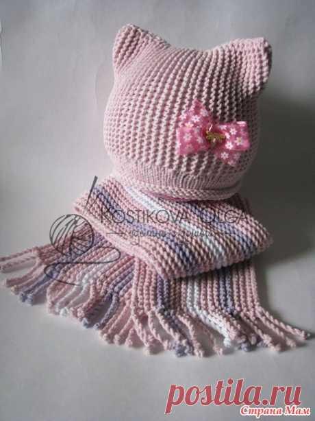 Два милых комплекта с описанием + свежая идея от меня для окончания шарфика - Вязание - Страна Мам